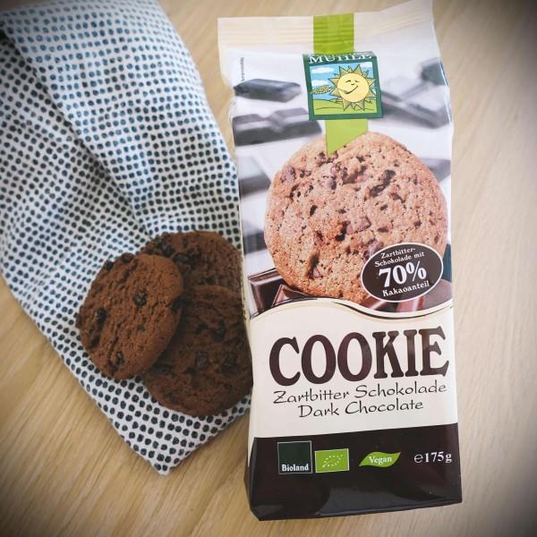 Cookie mit Zartbitterschokolade (Bio), 175g