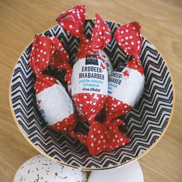 Osterei Erdbeer Rharbarber, 5 Stück