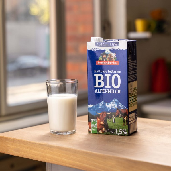 Haltbare Alpenmilch 1,5%, Bio