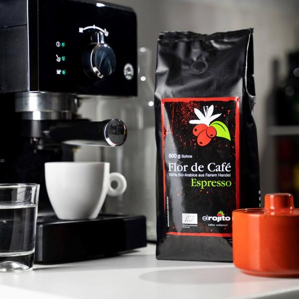 Flor de Café Espresso (Bio), ganze Bohne, 500g