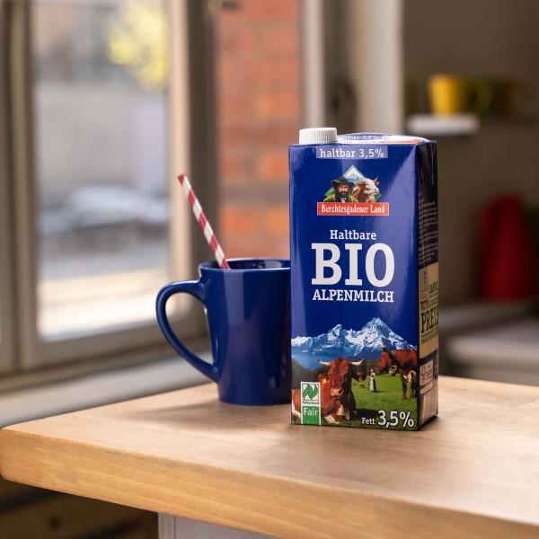 Haltbare Alpenmilch 3,5%, Bio