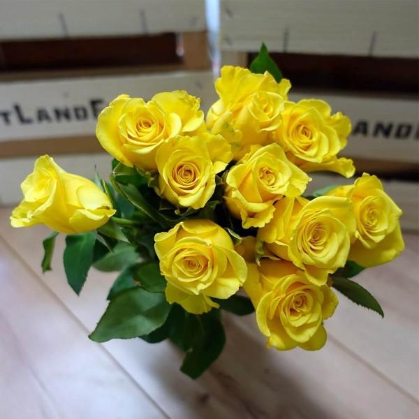 Rosenstrauß, gelb