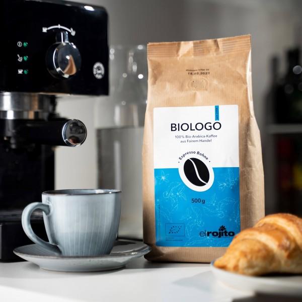 Biologo Espresso (Bio), ganze Bohne, 500g